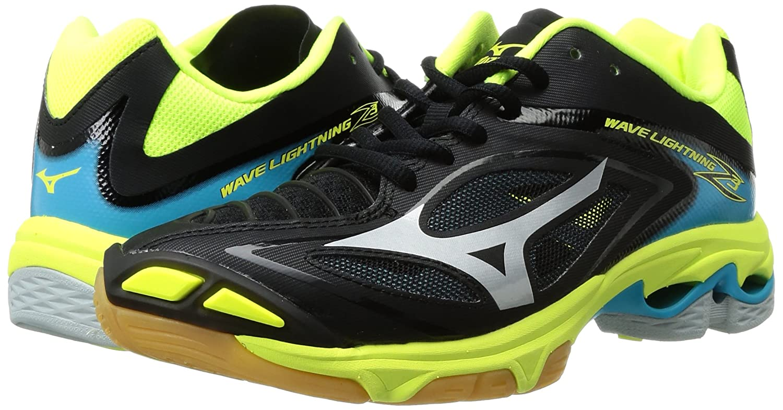 Mizuno Women's Wave Lightning Z3 Volleyball Shoe B01MTNUTVW 6.5 B(M) US|Black/Safety Yellow