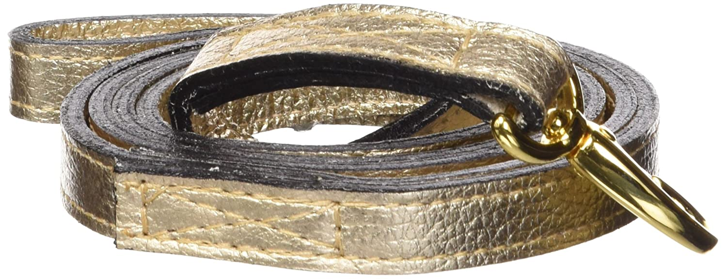 Hartman & pink 10069 After Eight Dog Lead, 1 2-Inch, gold Metallic
