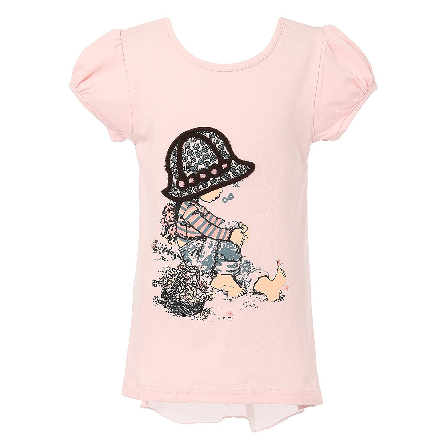 Richie House Girls' Short Sleeve T-Shirt with Girl Size 2-8 RH1888