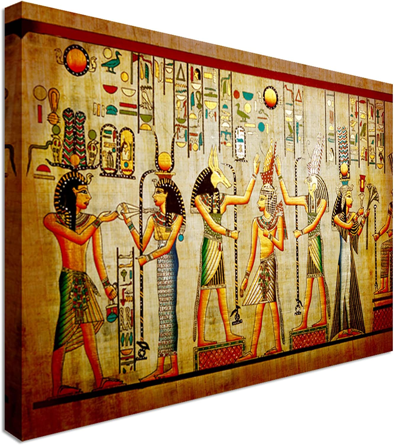 EGYPTIAN PAPYRUS ANTIQUE HIEROGLYPHS MODERN CANVAS PRINT READY TO HANG