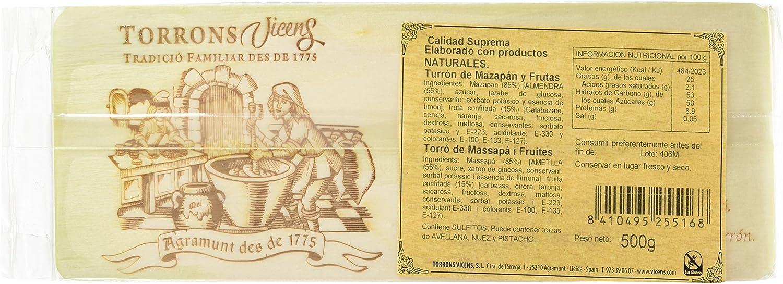 Vicens Turrón De Mazapán Y Frutas - 500 g: Amazon.es ...