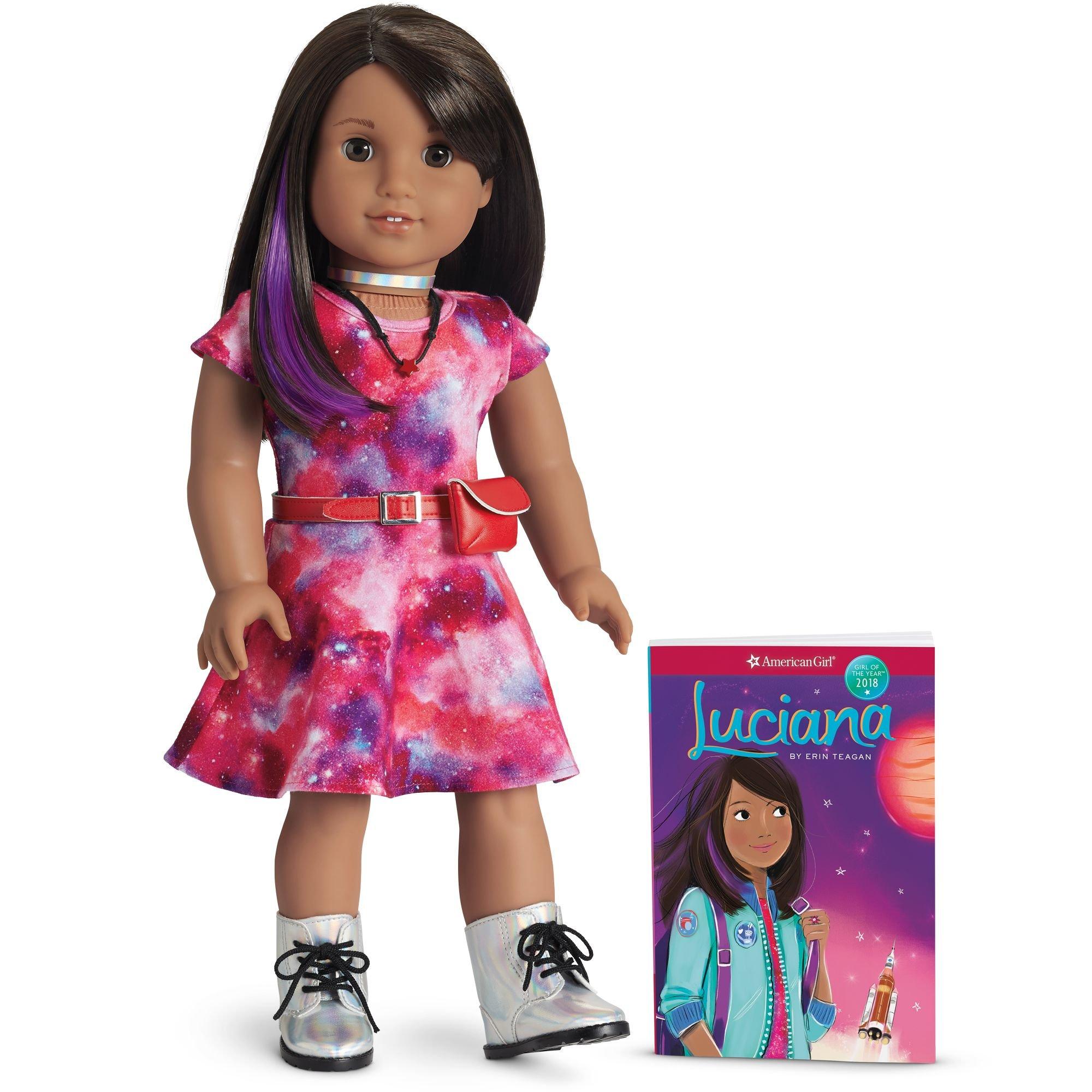 1dcbe5d86012d Amazon.com: American Girl - Luciana Vega - Luciana Doll & Book - American  Girl of 2018: Toys & Games