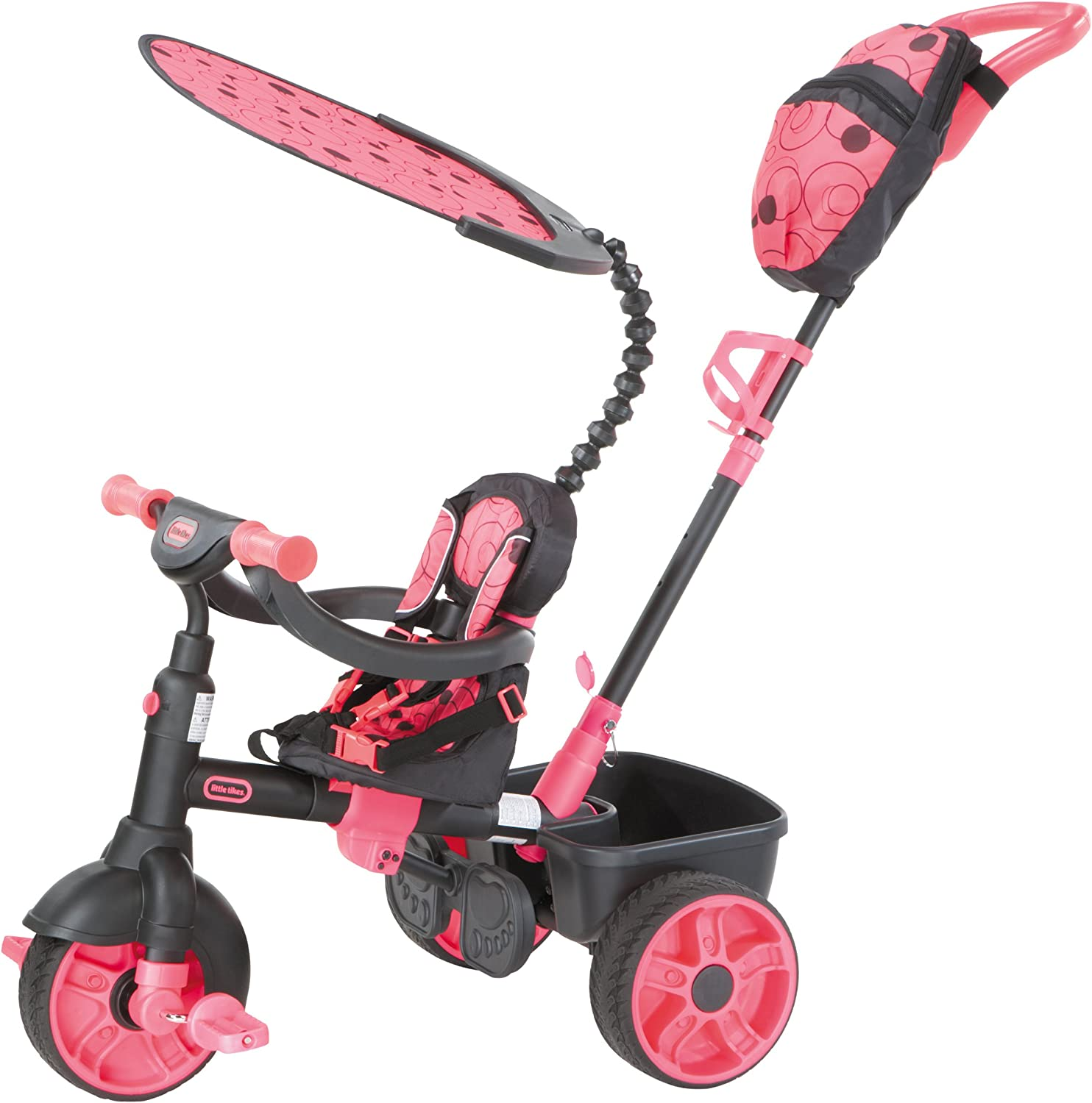 B00EPE5TFI Little Tikes 4-in-1 Ride On, Neon Pink, Deluxe Edition 81qS8f0fMAL.SL1500_