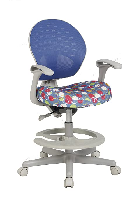 VIVA OFFICE Childrenu0027s Desk Chair With Adjustable Height,Depth And Foot Rest