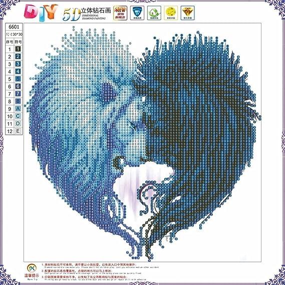 Jaminy 5d Diamante Pintura 30 x 30 cm, DIY Bordado Painting Cruz Diamond Decoración Brillantes eingefügt: Amazon.es: Juguetes y juegos