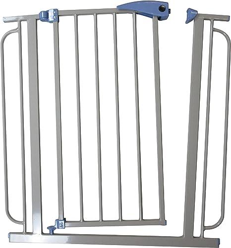 Escaleras rejilla para puerta rejilla rejilla protectora Barrera de seguridad metal 75 – 95 cm: Amazon.es: Bebé