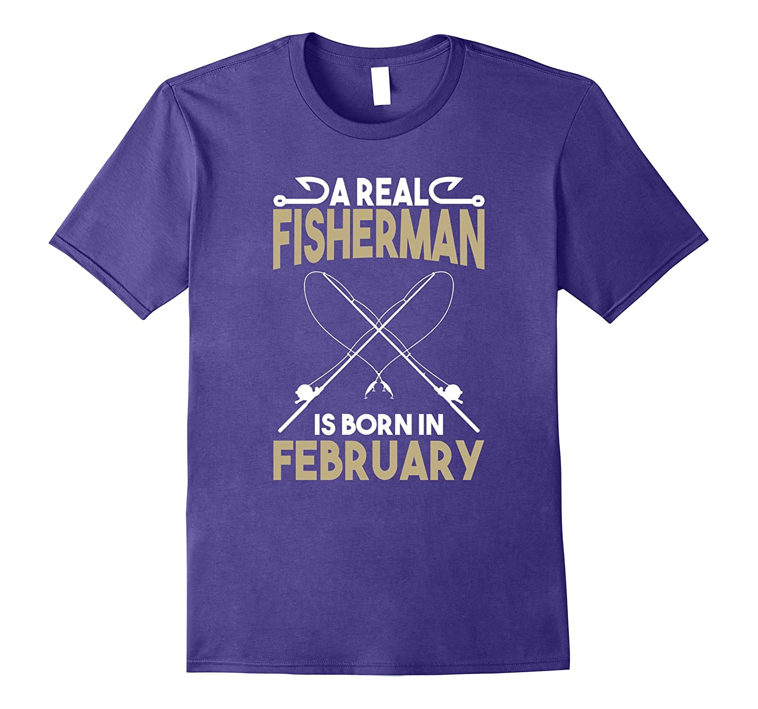 A Real Fisherman is Born in February Outdoors T-Shirt-TH