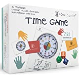 OWLCONIC Learning Time Game - A Great 128 Piece Teaching Aid to Help Kids Learn Analog and Digital Time. an Educational…