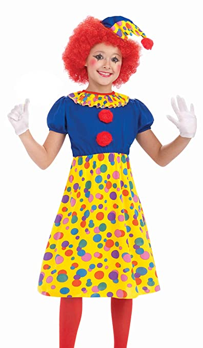 Forum Novelties Circus Clown Girl Costume, Child Large