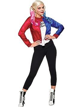 Generique Disfraz chaqueta y camiseta adulto Harley Quinn ...