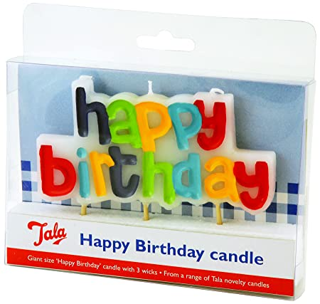 Tala Happy Birthday Candle Amazoncouk Kitchen Home