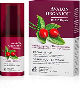 Avalon Organics Wrinkle Therapy Facial Serum 0.55 Fluid Ounce