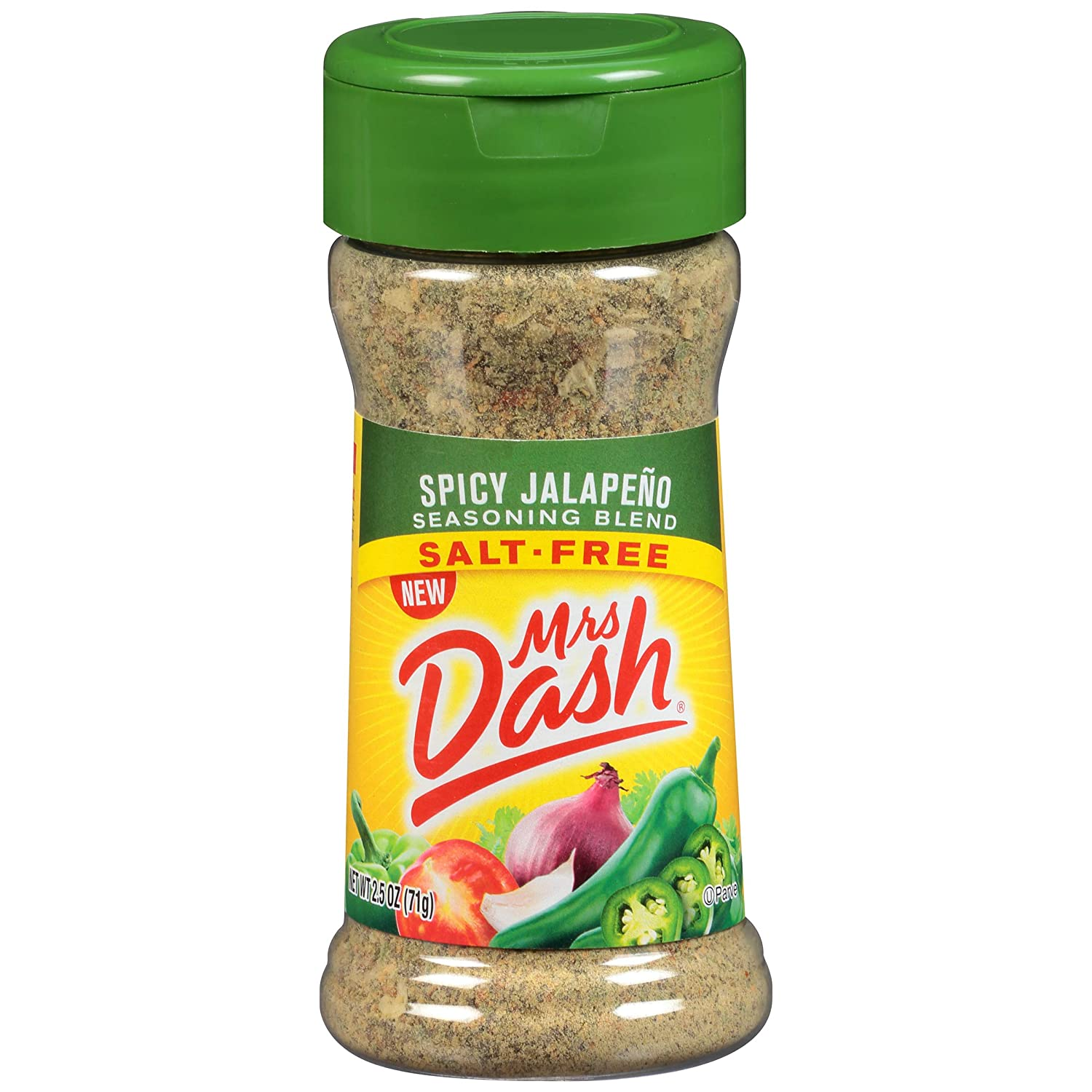 Dash Salt-Free Seasoning Blend, Spicy Jalapeno, 2.5 Ounce (Pack of 12)