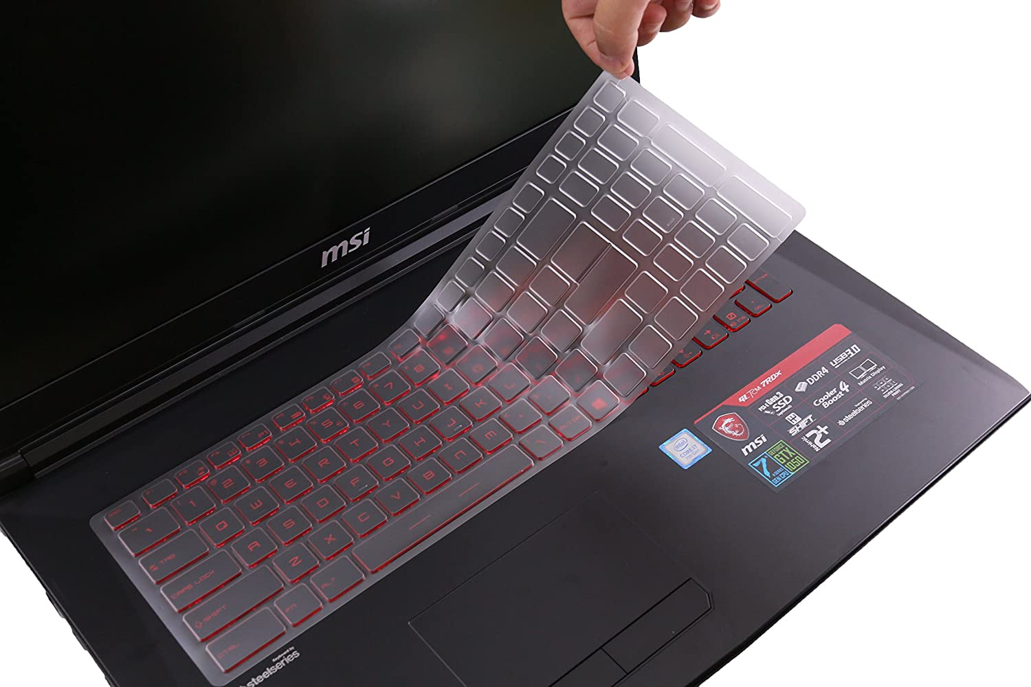 Leze - Keyboard Cover for MSI GS63 GF62 GE63VR GV62 GP63 GT63 GL63 WE63 WS63 GL72 GL72M GF72VR GE73VR GL73 GP73 WE73 GS73 GS73VR GT73 GT73VR GE75 GS75 GF75 WS75 WE75 Gaming Laptop - TPU