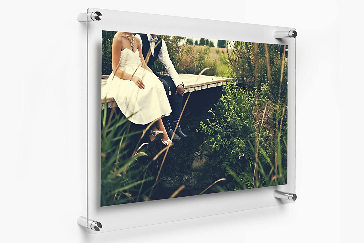 Amazon.com: Wexel Art 15x18-Inch Double Panel Clear Acrylic Floating ...
