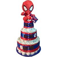 Tarta de pañales DODOT The Avengers Spiderman (Talla