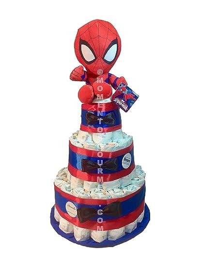 Tarta de pañales DODOT The Avengers Spiderman (Talla 2 (3-6 kg)