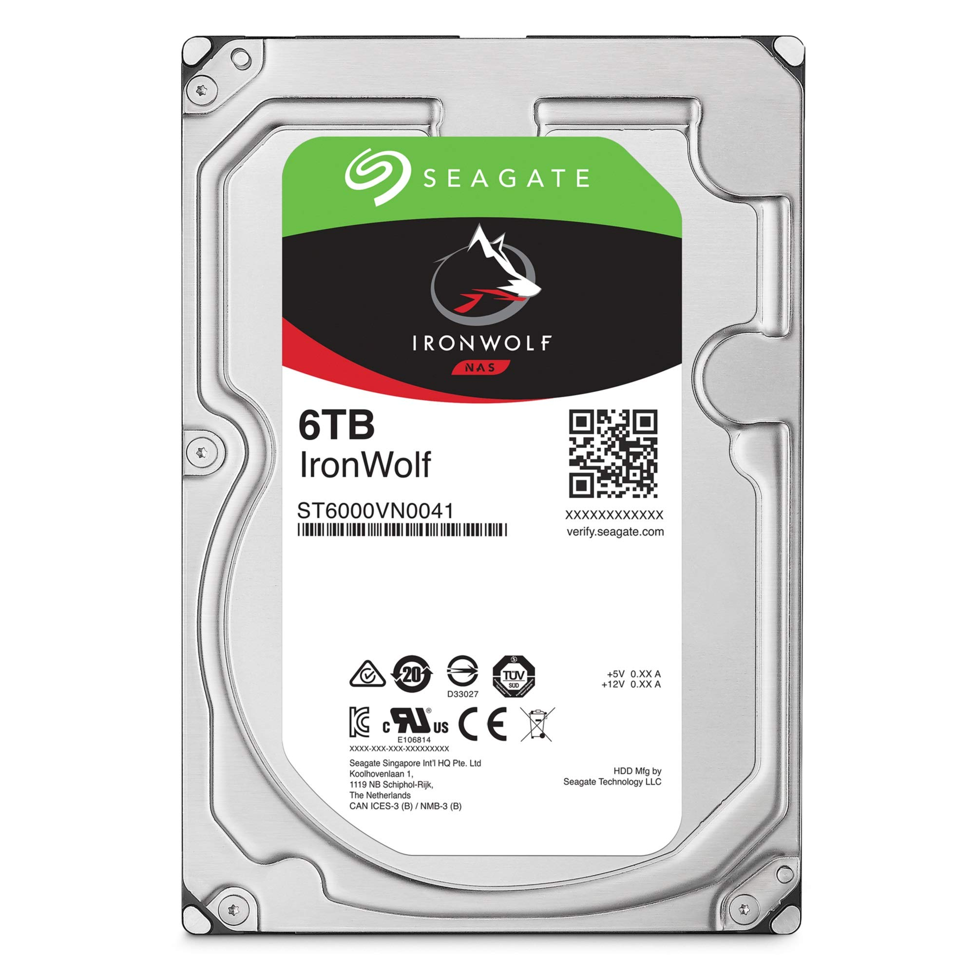 Seagate IronWolf 6TB NAS Internal Hard Drive HDD - 3.5 Inch SATA 6Gb/s 7200 RPM 256MB Cache for RAID Network Attached Storage (ST6000VN0033) by Seagate (Image #2)
