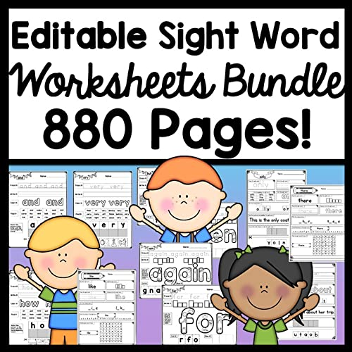- {4 Sets Of Worksheets!} {880 Sight Word Practice Pages!}