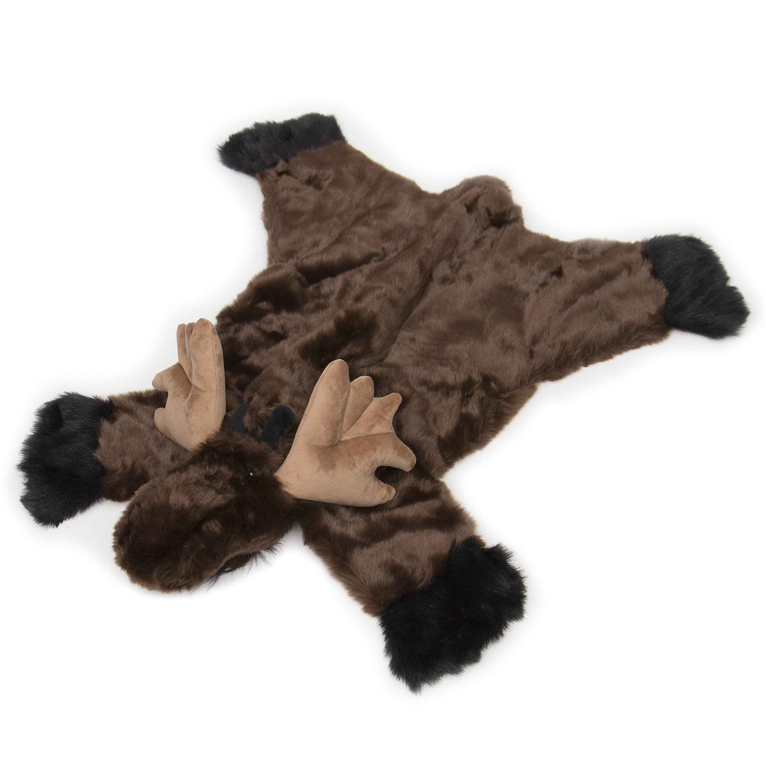 Carstens Plush Moose Animal Rug Small