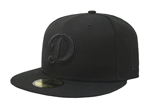e3c5382729a4f0 New Era 59Fifty Hat MLB Basic Los Angeles Dodgers LA D Black Fitted  Baseball Cap (