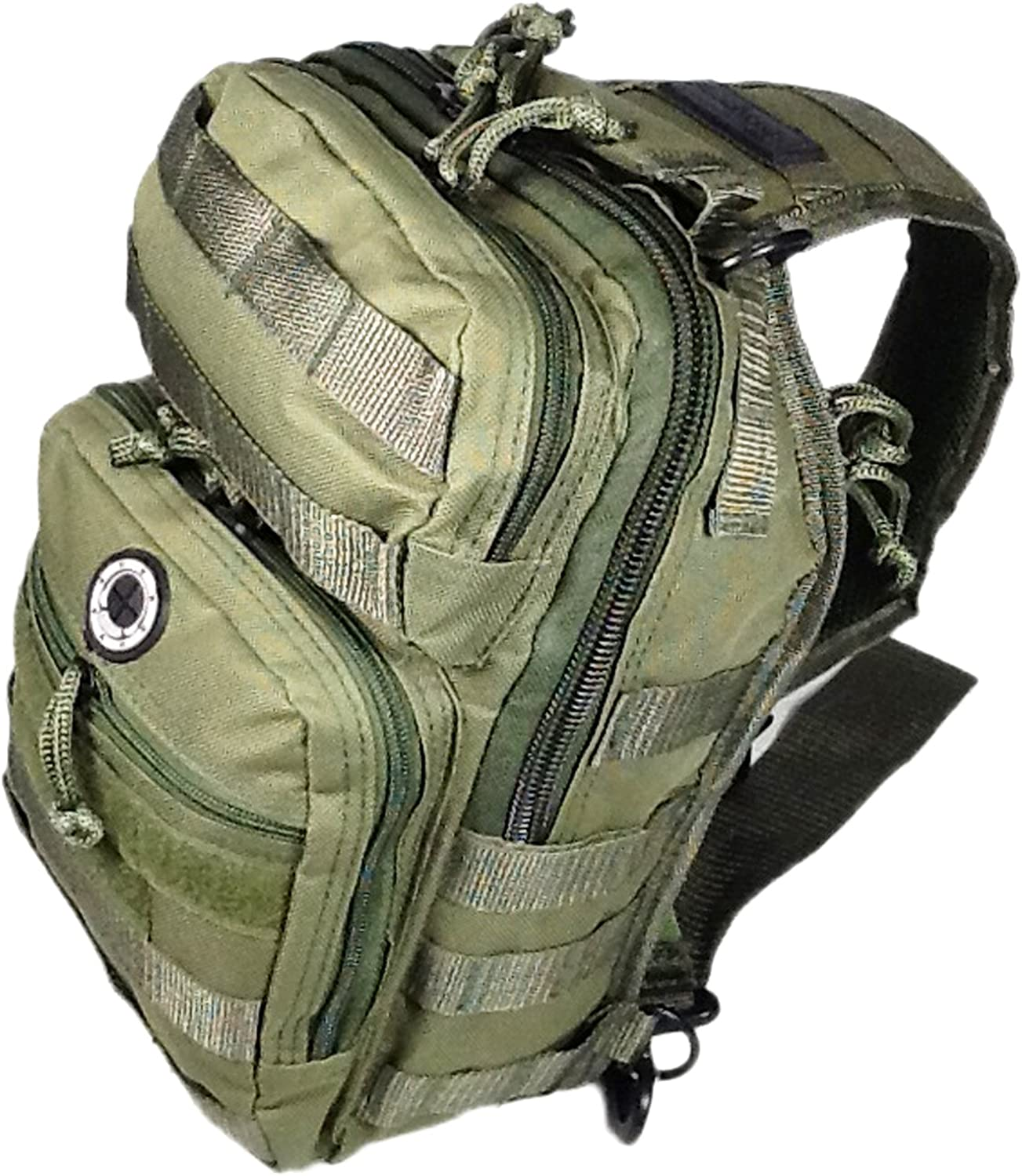 12 800cu. in. Tactical Sling Shoulder Hiking Backpack TL312 ODGN GREEN