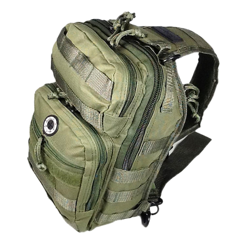 12 800cu. in. Tactical Sling Shoulder Hiking Backpack TL312 ODGN GREEN