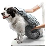 Tuff Pupper Large Dog Shammy Towel | Ultra Absorbent | Durable 35 x 15 Size for Dogs of All Breeds | Quick Drying…