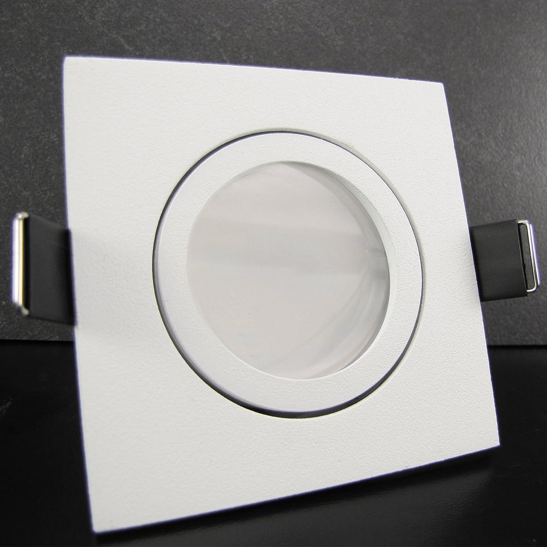 12er Set (10-12er Sets) Einbaustrahler BIANCO (rund) WEIß WEISS WEISS WEISS MATT; 230V; Deko SMD LED 1,2 Watt (dekorativ); Kalt-Weiß; schwenkbar; Einbauleuchte Einbauspot Downlight 045284