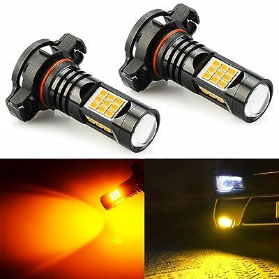 JDM ASTAR Bright Amber PX Chips PXS24W 2504 LED Fog Light Bulbs: Automotive