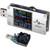 AVHzY USB Meter Tester Multimeter USB Load Current Tester Voltage Detector DC 26.0000V 6.0000A Test Speed of Charger Cables Capacity of Power Bank PD 2.0/3.0 QC 2.0/3.0/4.0 or pps Trigge (CT-2)