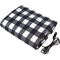 Stalwart - Electric Car Blanket- Heated 12 Volt Fleece Travel Throw for Car and RV-Great for Cold Weather, Tailgating…