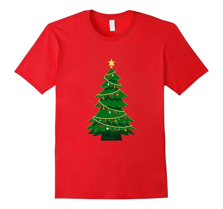 Mens Womens Ornated Green Christmas Tree T-shirt-ANZ