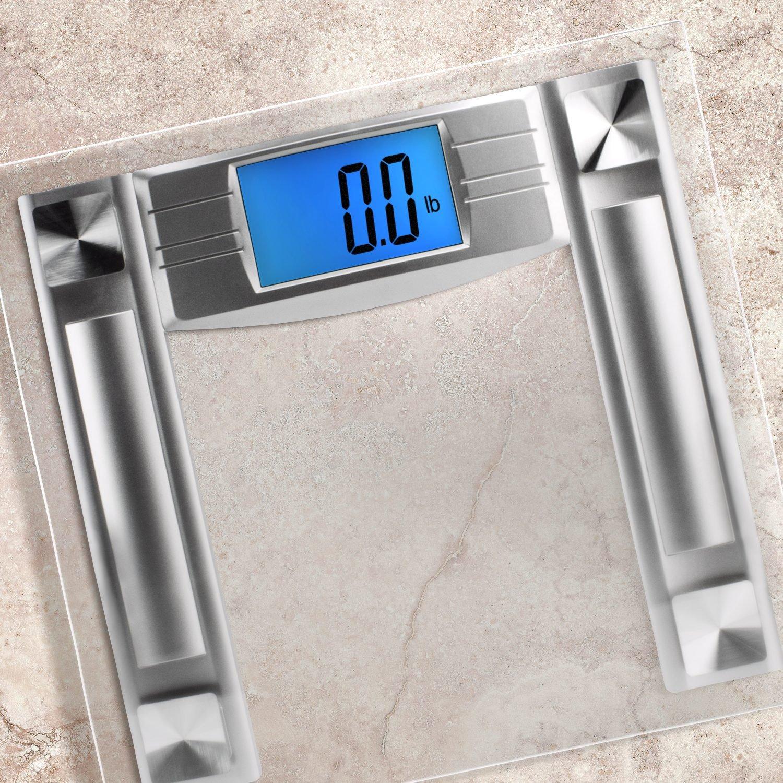 Amazoncom SlimSmart Modern Bathroom Scale With Large Digital - Large display digital bathroom scales