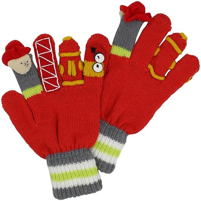 Spongebob Squarepants Yellow Knit Boys Winter Gloves