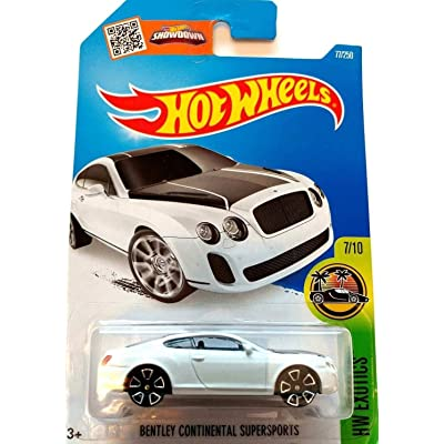 Hot Wheels 2016 HW Exotics Bentley Continential Supersports 77/250, White: Toys & Games