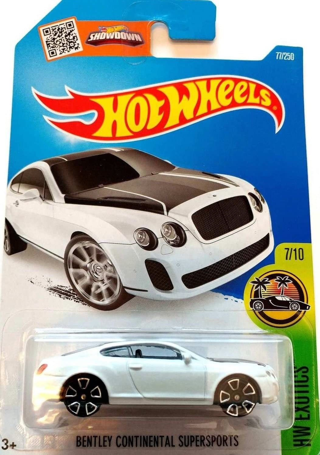 Hot Wheels 2016 HW Exotics Bentley Continential Supersports 77/250, White