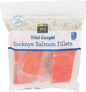 365 Everday Value, Wild-Caught Fish, Sockeye Salmon Fillets, 32 Ounce (Frozen)