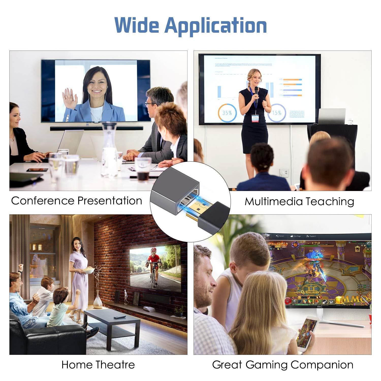 WU-MINGLU USB C zu HDMI Adapter mit 4k HDMI Kabel, Typ C (Thunderbolt 3) auf HDMI Ultra Mini Hub für USB-C Geräte