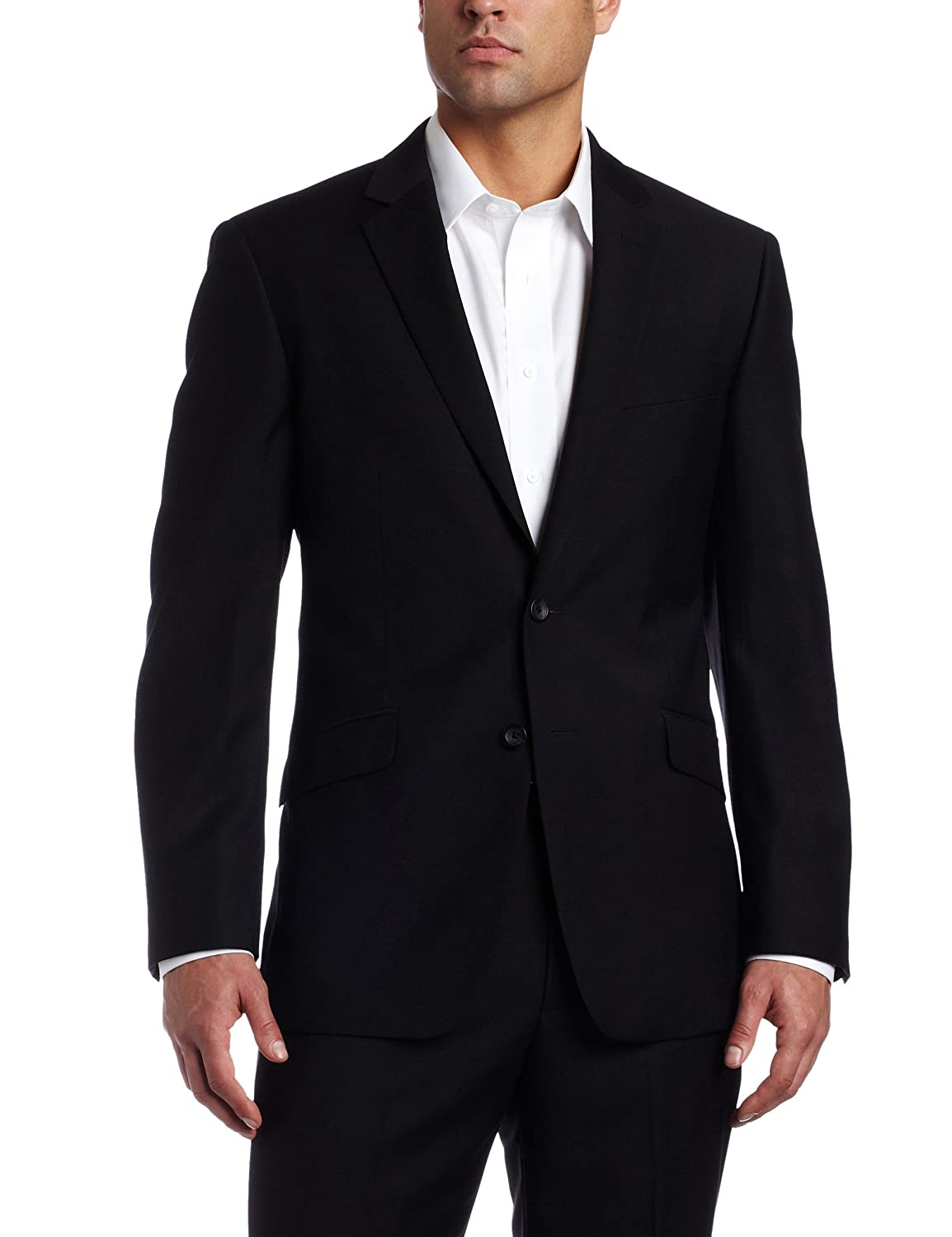 Kenneth Cole REACTION Men's Black-Solid Suit Separate Jacket at