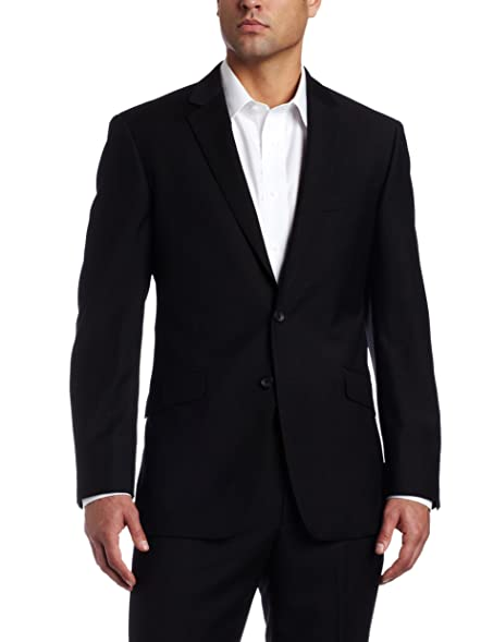 Kenneth Cole REACTION Men's Slim fit Black-Solid Suit Separate ...