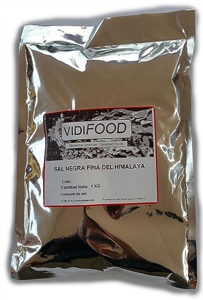 Sal Negra del Himalaya - 1 kg - Rica en nutrientes y minerales - 100%