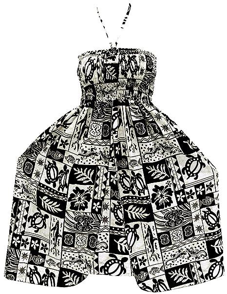 LA LEELA Women\'s Midi Plus Size Tube Top Dress Summer Dresses Cover Up  Printed B