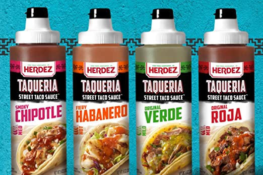 Amazon.com : Herdez Taqueria Street Taco Sauce 9 oz 3 Pack Gluten Free (Salsa Roja 2 Pack) : Grocery & Gourmet Food