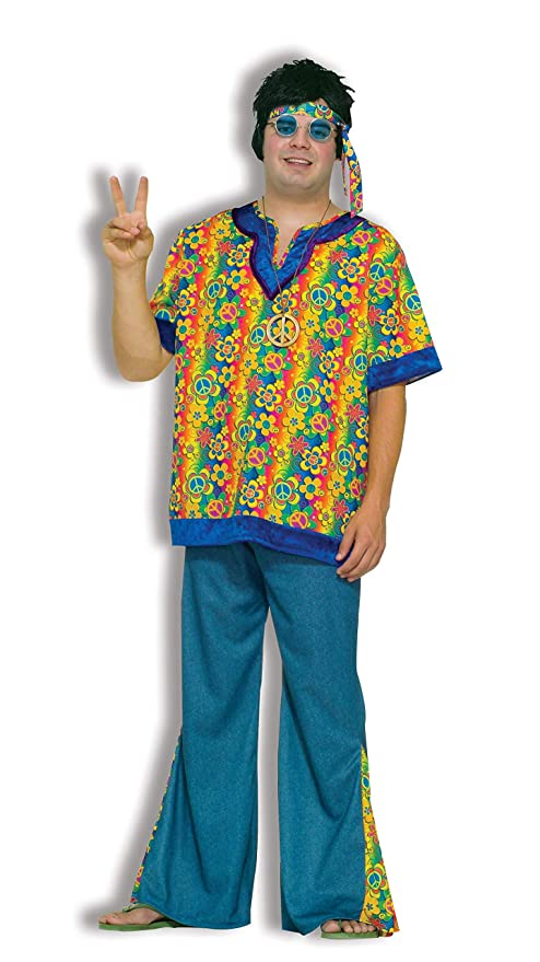 60s -70s  Men's Costumes : Hippie, Disco, Beatles Forum Novelties Inc - Far Out Dude Adult Plus Costume  AT vintagedancer.com