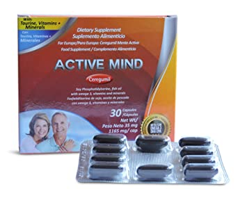 Ceregumil Active Mind Brain Booster for Mental Performance - Improve Memory Supplement Mental Clarity Focus &