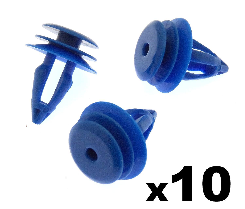 10x plastica tagliare clip // Elementi di collegamento LR027255 - Veicoli // Auto // Moto clip in plastica per anteriore e ruota posteriore Arch Trim