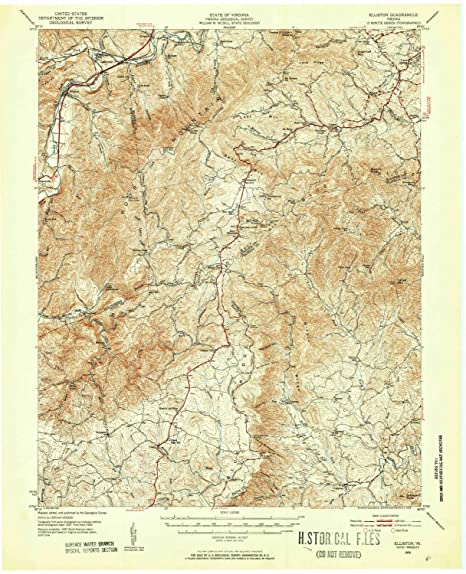 Amazon.com : YellowMaps Elliston VA topo map, 1:62500 Scale ...