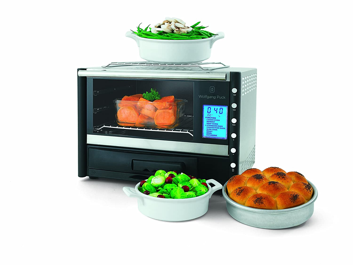 Uncategorized Wolfgang Puck Kitchen Appliances amazon com wolfgang puck wpdcorp20 bistro digital convection oven with rotisserie and pizza drawer countertop ovens