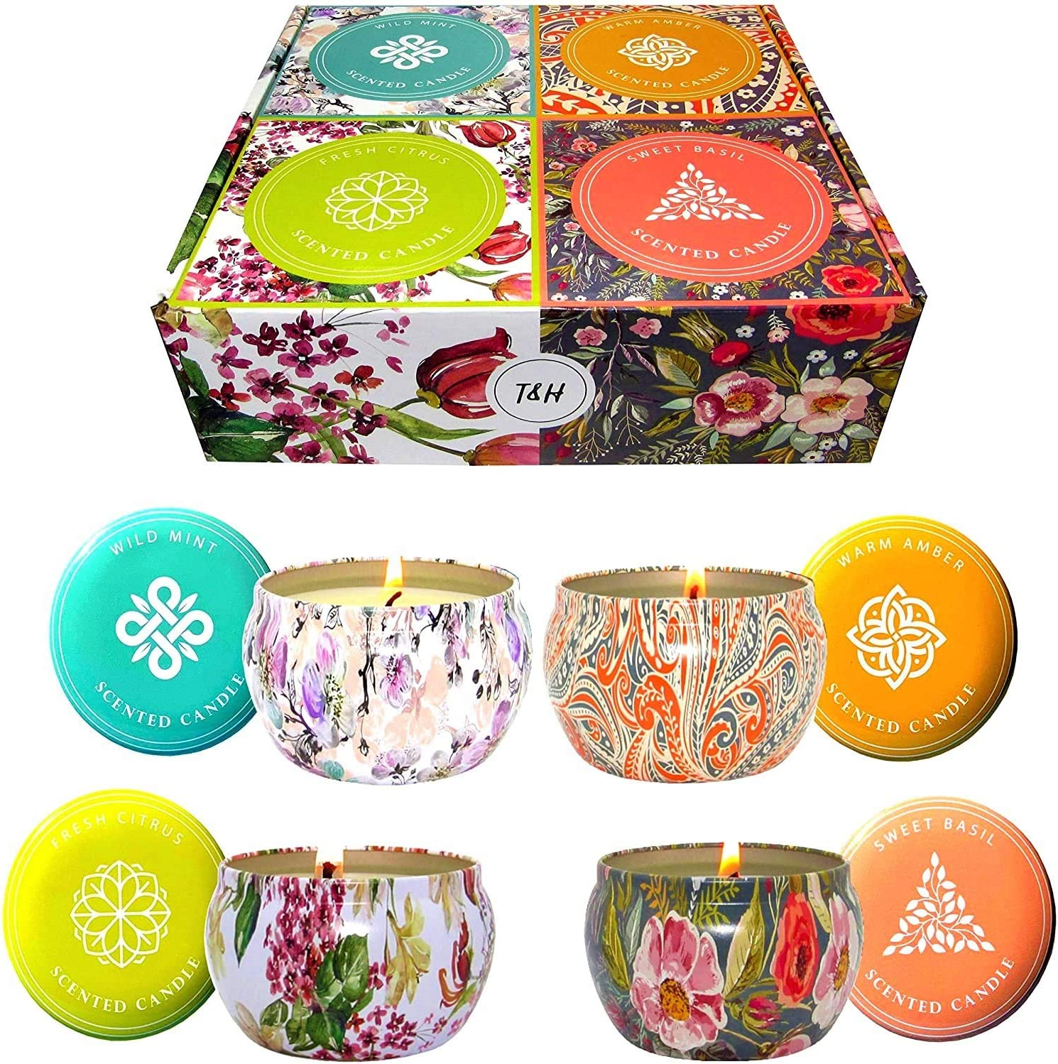 10pk 120hr //pack LIME MANGO Strong Scent Natural SOY TEA LIGHT CANDLES Gift Box
